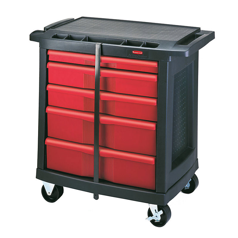 Rubbermaid FG773488BLA Maintenance Cart w/ 250-lb Capacity, Black