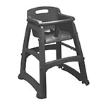 Rubbermaid FG780608BLA Sturdy Chair Youth Seat - Black
