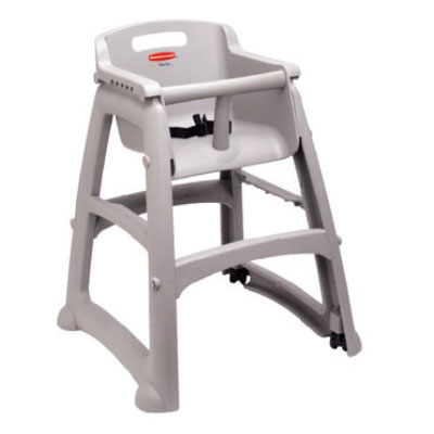 Rubbermaid FG780608PLAT Sturdy Chair Youth Seat - Platinum