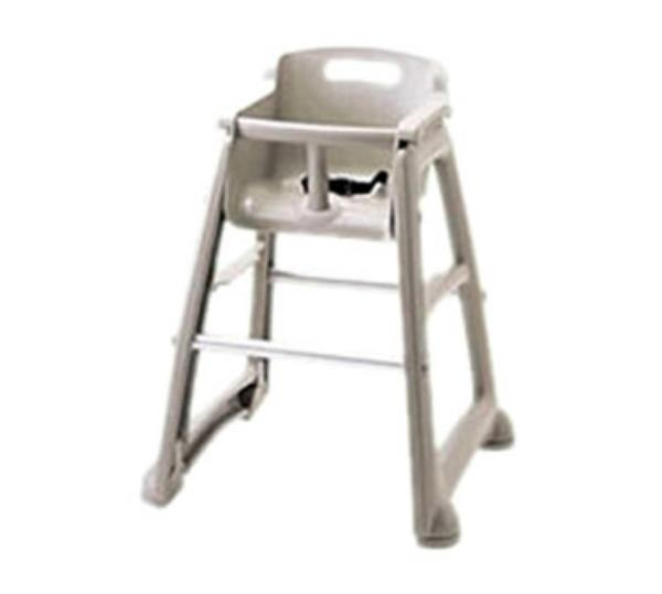 Rubbermaid FG781408PLAT Sturdy Chair Youth Seat - Safety Harness, Platinum