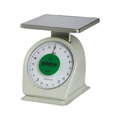 Rubbermaid FG805W Pelouze Portion Scale - Counter Model, Green Lens, 5-lb x 1/2-oz, Steel