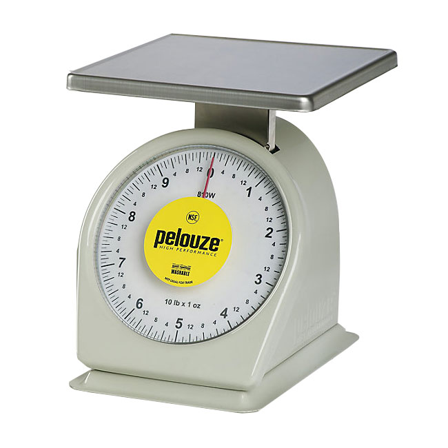 Rubbermaid FG810W Pelouze Mechanical Heavy Duty Portion Control Scale - 10-lb x 1-oz