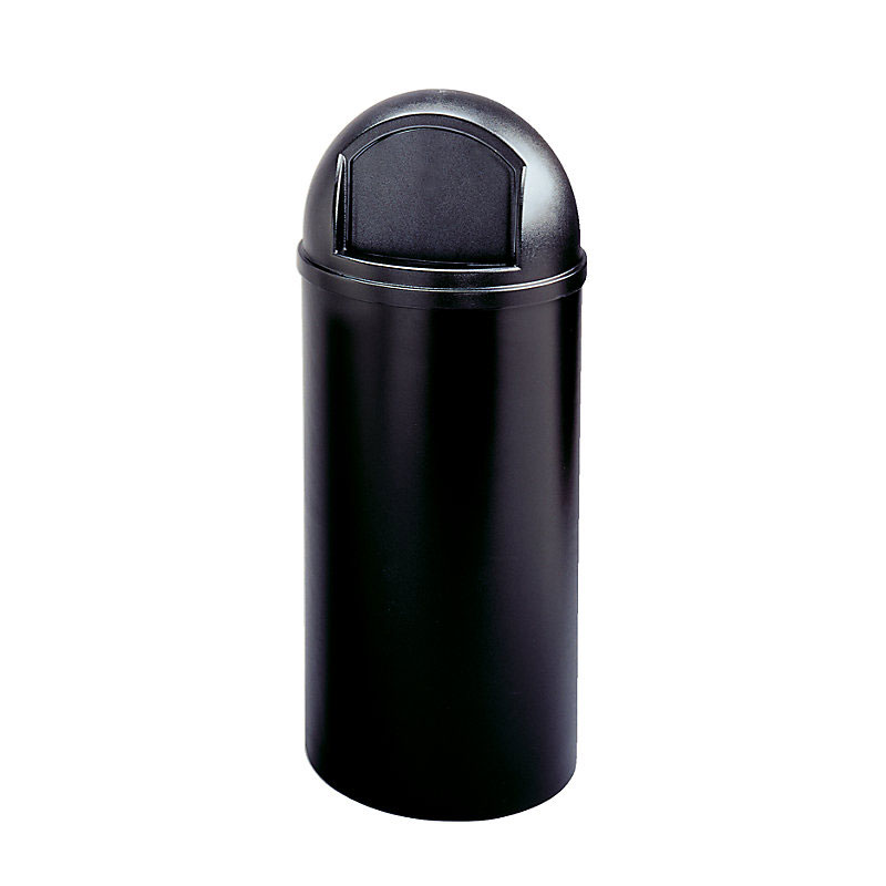 Rubbermaid FG816088BLA 15-gal Indoor Decorative Trash Can - Plastic, Black