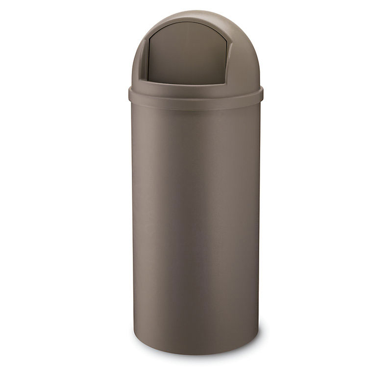 Rubbermaid FG816088BRN 15-gal Indoor Decorative Trash Can - Plastic, Brown