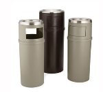 Rubbermaid FG818088BEIG 25-gal Ash/Trash Classic Container with Doors - Beige
