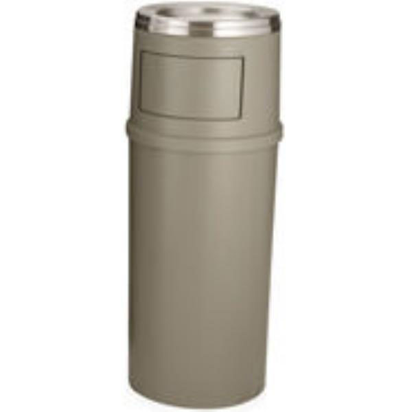 Rubbermaid FG818488BEIG 15-gal Ash/Trash Classic Container with Doors - Beige