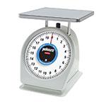 Rubbermaid FG820W Pelouze Dial Type Portion Scale - Counter Model, Blue Lens, 20-lb x 1-oz, Steel