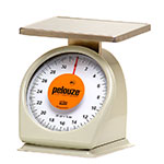 Rubbermaid FG832W Pelouze Portion Scale - Counter Model, Orange Lens, 32-oz x 1/8-oz, Steel