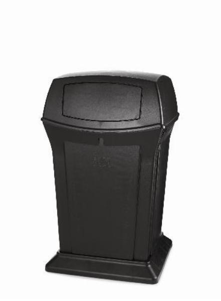 Rubbermaid FG917188BLA 45-gal Ranger Container - Dome Top, 2 Access Openings, Black