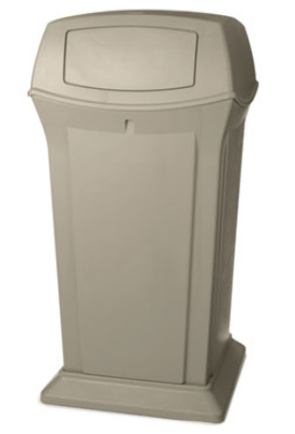 Rubbermaid FG917500BEIG Ranger Container W/ 2 Doors 65 Gallon Restaurant Supply