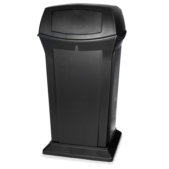 Rubbermaid FG BLA 65 gal Outdoor Decorative Trash Can