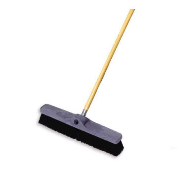 "Rubbermaid FG9B0600BLA 18"" Floor Sweep - Plastic Block, Poly Fill, Black"