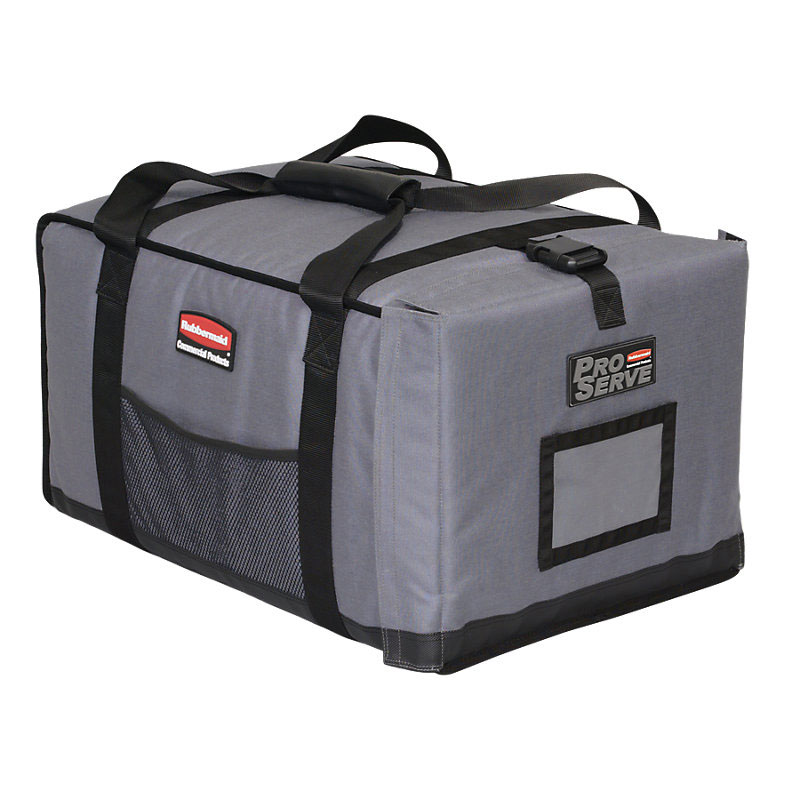 "Rubbermaid FG9F1200CGRAY ProServe Insulated Carrier - 27x18-1/4x16"" Cool Gray"