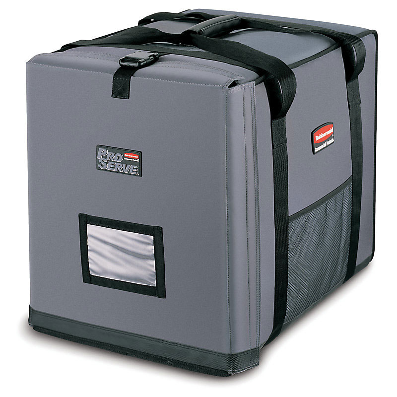 "Rubbermaid FG9F1300CGRAY ProServe Insulated Carrier - 27x19-1/2x22-1/2"" Cool Gray"