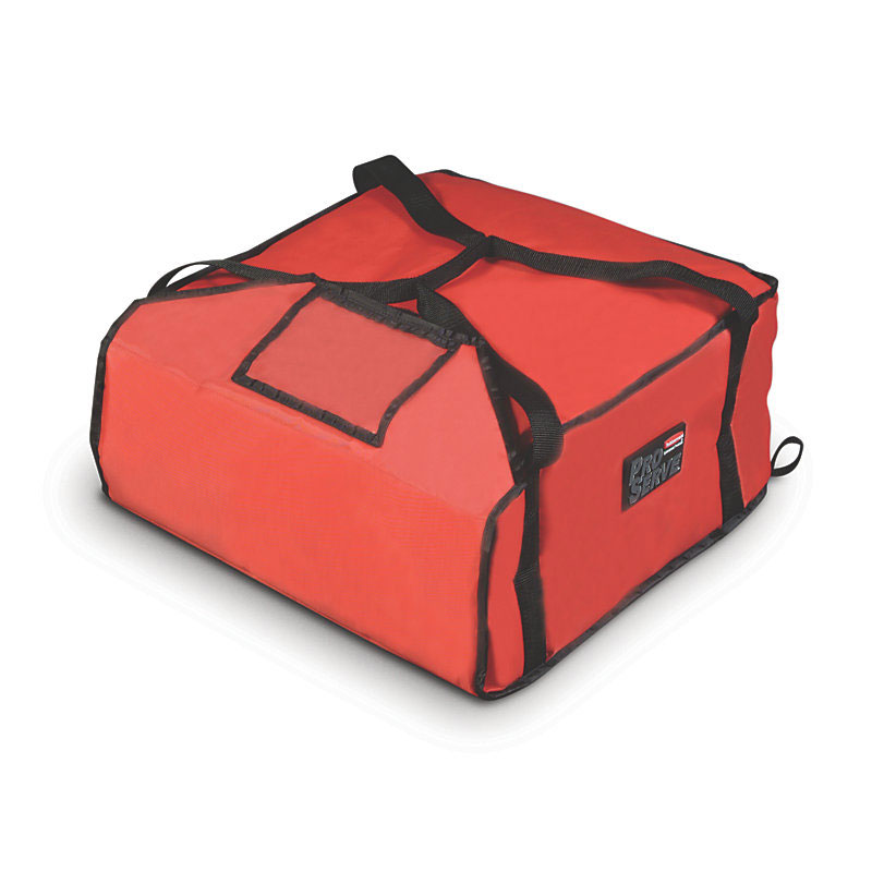 "Rubbermaid FG9F3600RED ProServe Pizza Delivery Bag - 18x17-1/4"" Red"