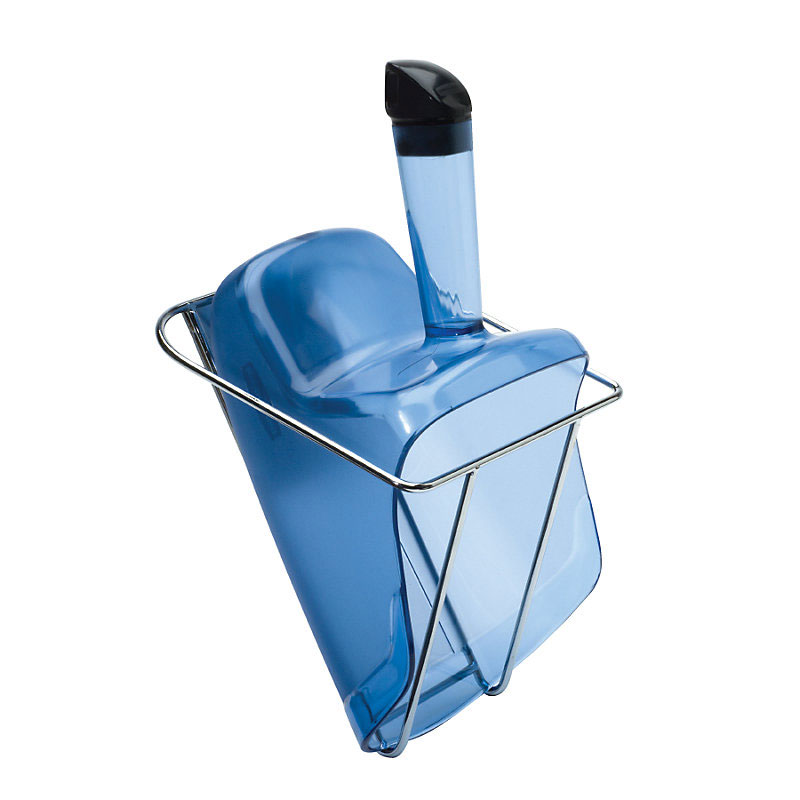 Rubbermaid FG9F5100TBLUE 74-oz Square Ice Scoop w/ Holder, Plastic