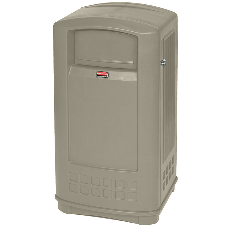 Rubbermaid FG9P9000BEIG 35-gal Plaza Jr. Container - Beige