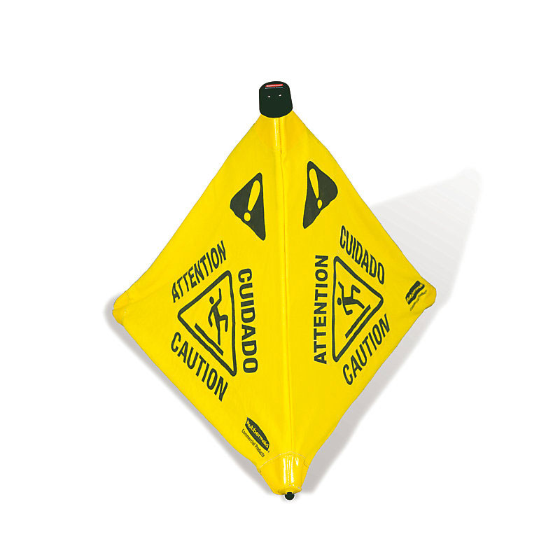 "Rubbermaid FG9S0000YEL 20"" Pop-Up Safety Cone - Multi-Lingual ""Caution"
