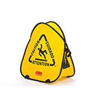 "Rubbermaid FG9S0700YEL Folding Safety Cone - Multi-Lingual ""Caution"" Yellow"