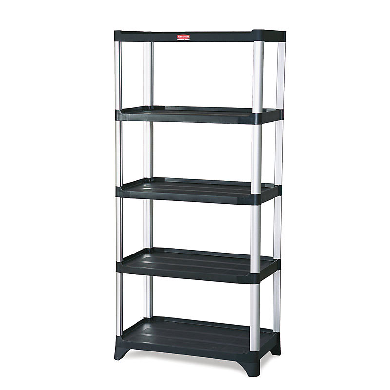 "Rubbermaid FG9T3900BLA Polymer Solid Shelving Unit - 35.125""L x 20""W x 71.375""H"