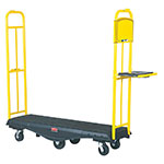 Rubbermaid FG9T5000BLA StockMate Restocking Truck - Standard Deck, 1800-lb Capacity, Black