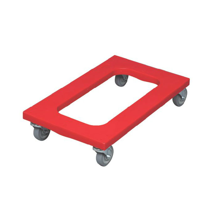 "Rubbermaid FG9T5400RED Flush Deck Dolly - 1000-lb Capacity, 30x18"" Red"