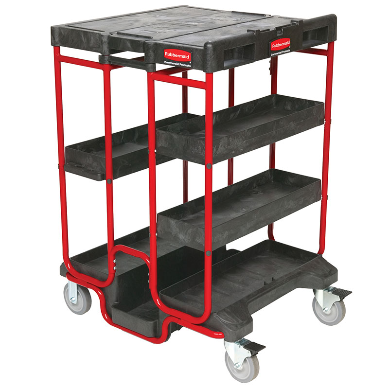 "Rubbermaid FG9T5700BLA Ladder Cart - 500-lb Capacity, 31-1/2x27-3/8x42-7/8"" Black"