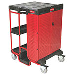 "Rubbermaid FG9T5800BLA Ladder Cart with Cabinet - 500-lb Capacity, 31-1/2x27-3/8x42-7/8"" Black"
