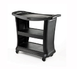 Rubbermaid FG9T6800 PLAT 3-Shelf Service Cart - 300-lb Capacity, Platinum