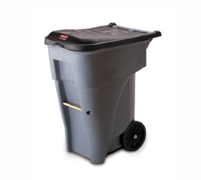 "Rubbermaid FG9W2100GRAY 65-gal BRUTE Rollout Container - 32-1/3x25-1/3x41-4/5"" Gray"