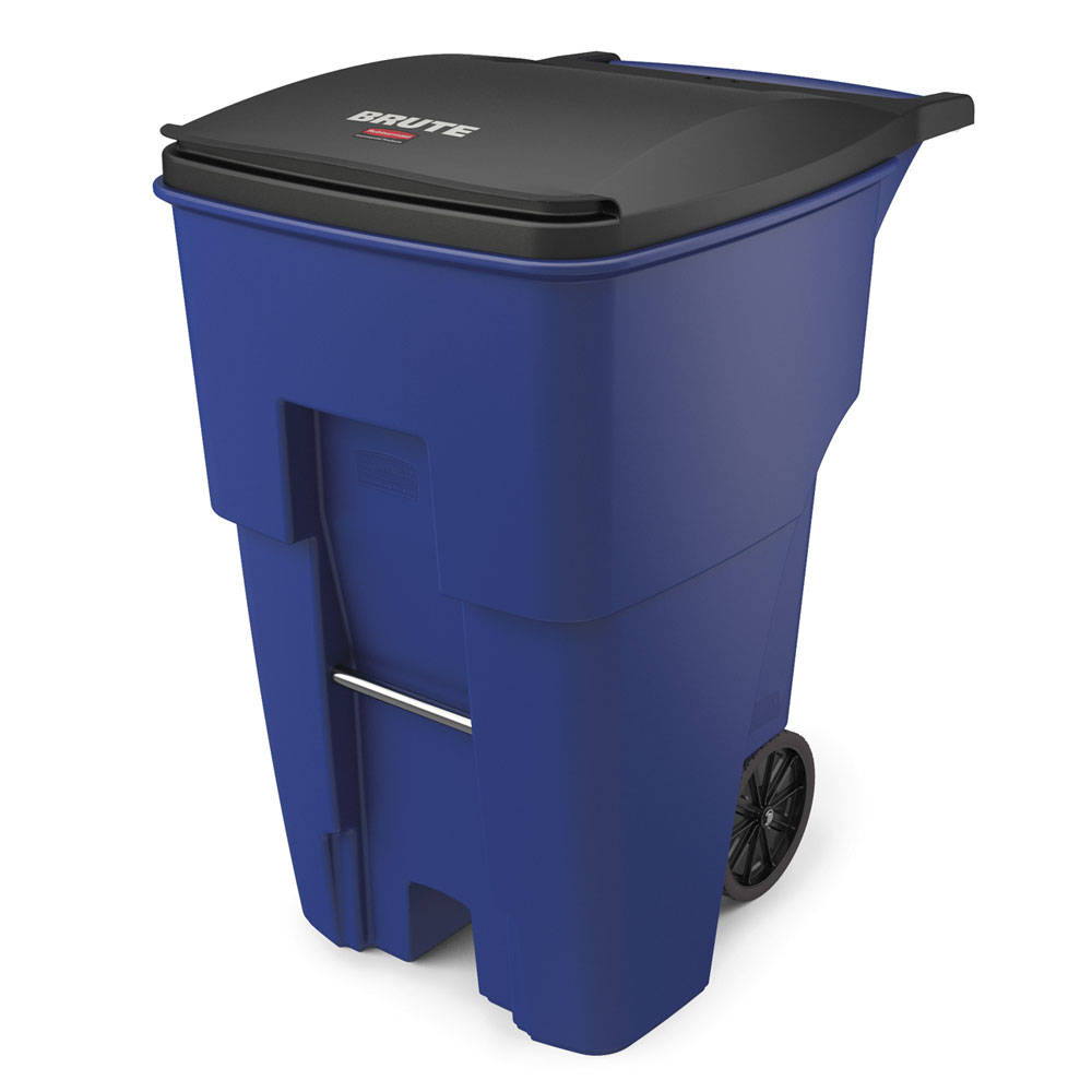 "Rubbermaid FG9W2273BLUE 95-gal BRUTE Rollout Container - 35-2/5x27-1/3x45-3/5"" Blue"