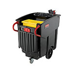 Rubbermaid FG9W7300BLA Mega BRUTE Mobile Waste Collector - 120-gal Capacity, Black