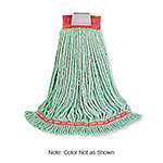 "Rubbermaid FGA25206BL00 Web Foot Wet Mop - Looped-End, 5"" Headband, 4-Ply Cotton/Synthetic, Blue"