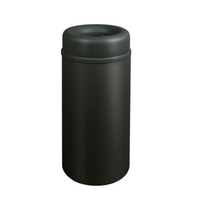Rubbermaid FGAOT15BKPL 15-gal Crowne Waste Receptacle - Rigid Plastic Liner, Textured Black