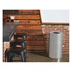 Rubbermaid FGAOT35SAPL 21-gal Indoor Decorative Trash Can - Metal, Satin Aluminum