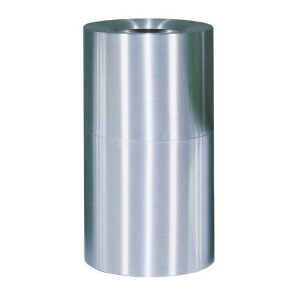Rubbermaid FGAOT35SAPL 21-gal Indoor Decorative Trash Can - Metal, Satin Aluminum