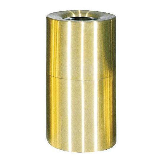Rubbermaid FGAOT35SBPL 21-gal Designer Line Waste Receptacle - Rigid Plastic Liner, Satin Brass/Aluminum