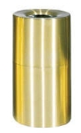 Rubbermaid FGAOT35SBPL 21-gal Designer Line Waste Receptacle - Rigid Plastic Liner, Satin Brass/Aluminum