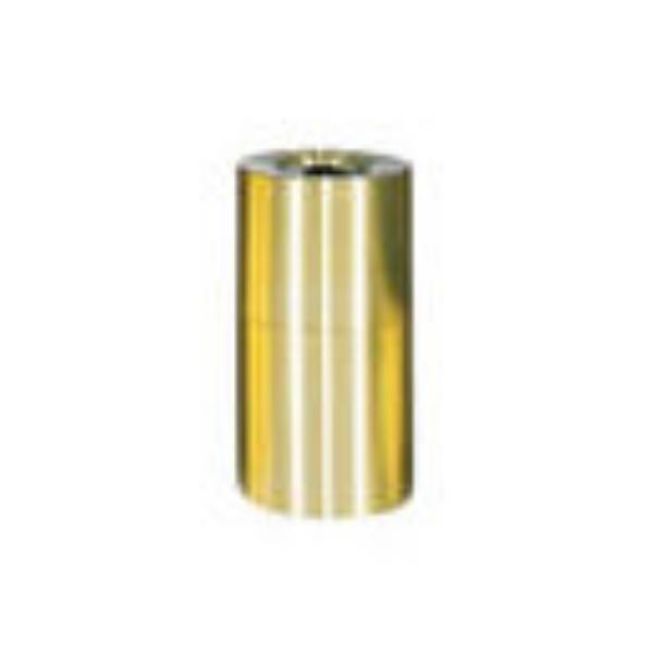 Rubbermaid FGAOT62SBPL 55-gal Designer Line Waste Receptacle - Rigid Plastic Liner, Satin Brass/Aluminum