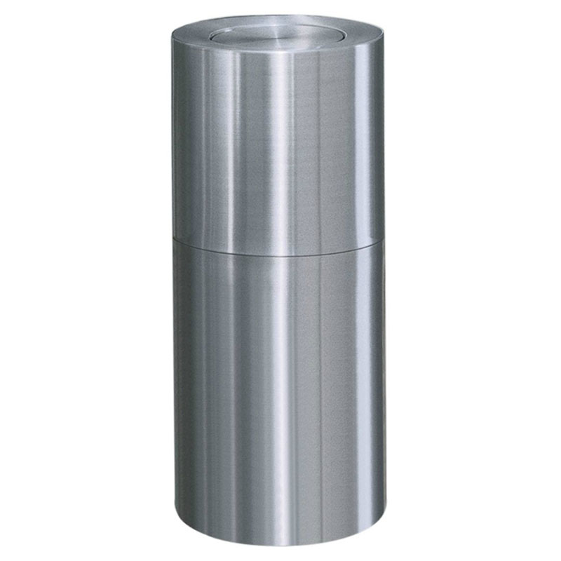 Rubbermaid FGATF18SAPL 15-gal Indoor Decorative Trash Can - Metal, Satin Aluminum