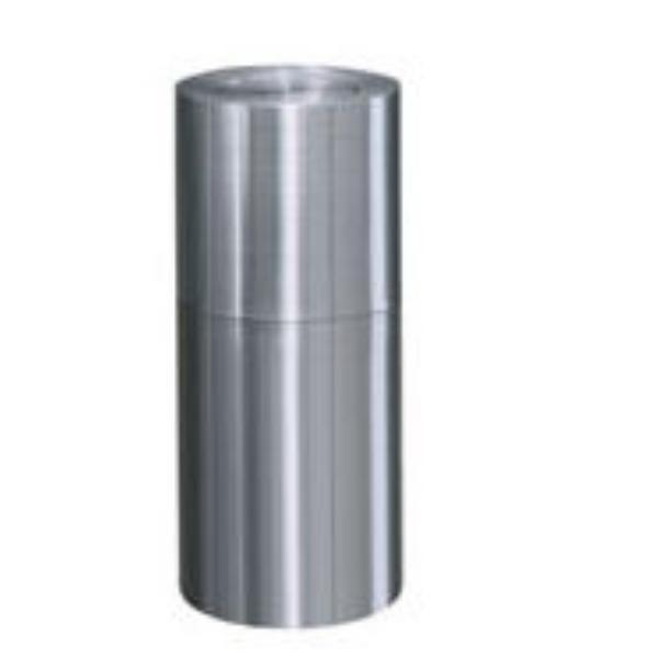 Rubbermaid FGATF18SAPL 15-gal Designer Line Waste Receptacle - Rigid Plastic Liner, Satin Aluminum