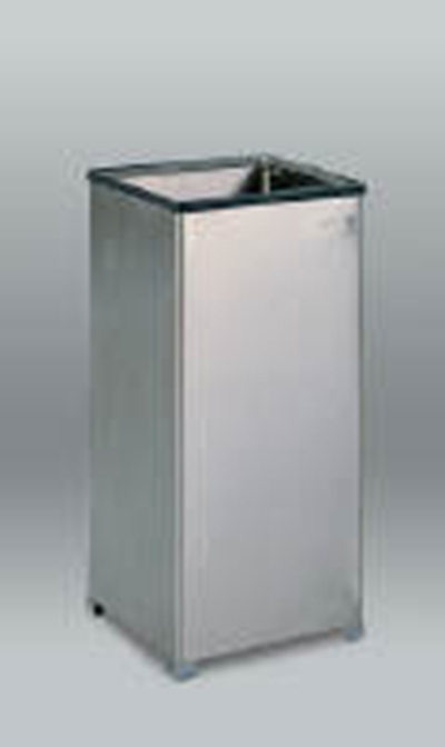 Rubbermaid FGB1424SSPL 16-gal Clean Room Waste Receptacle - Open Top, Rigid Liner, Stainless