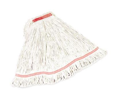 "Rubbermaid FGC21306WH00 Large Swinger Loop Mop - 1"" Headband, 4-Ply Cotton/Synthetic, White"