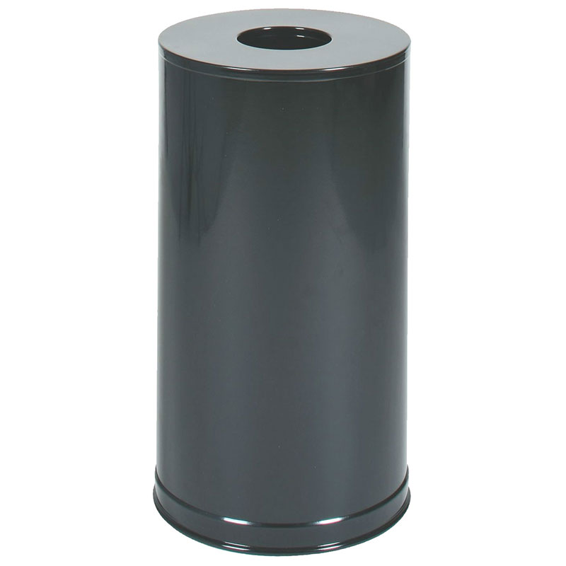 Rubbermaid FGCC16EGLBK 15-gal Indoor Decorative Trash Can - Metal, Black