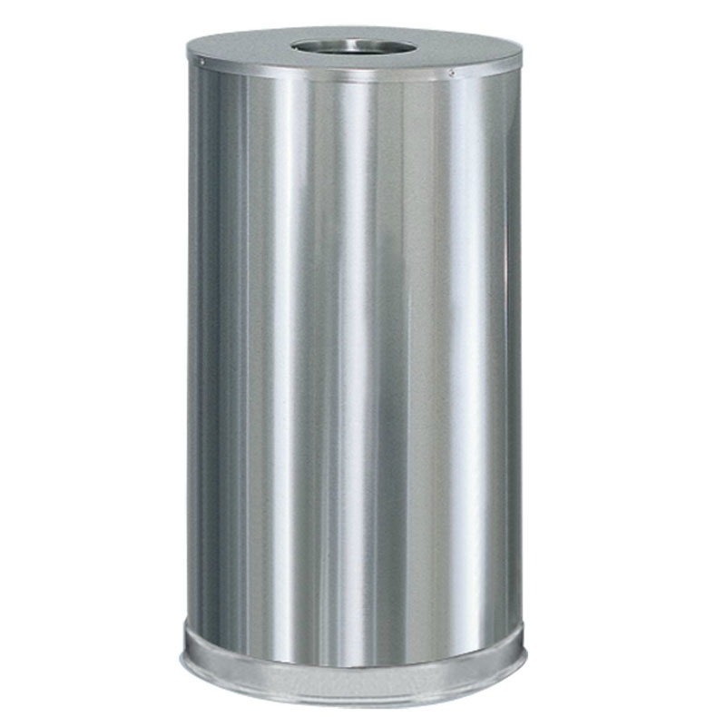 Rubbermaid FGCC16SSSGL 15-gal Metallic Waste Receptacle - Galvanized Liner, Satin Stainless