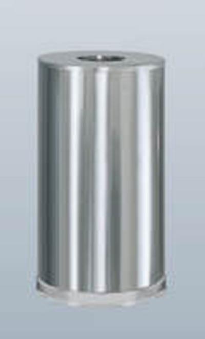 Rubbermaid FGCC16SSSGL 15-gal Metallic Waste Receptacle - Galvanized Liner, Satin Stainless