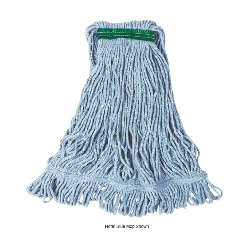 """Rubbermaid FGD21206WH00 Small Super Stitch Wet Mop Head - 4-Ply Cotton/Synthetic, 1"""" Headband, White"""