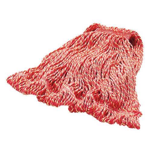 "Rubbermaid FGD21306RD00 Large Super Stitch Mop Head - 4-Ply Cotton/Synthetic, 1"" Headband, Red"