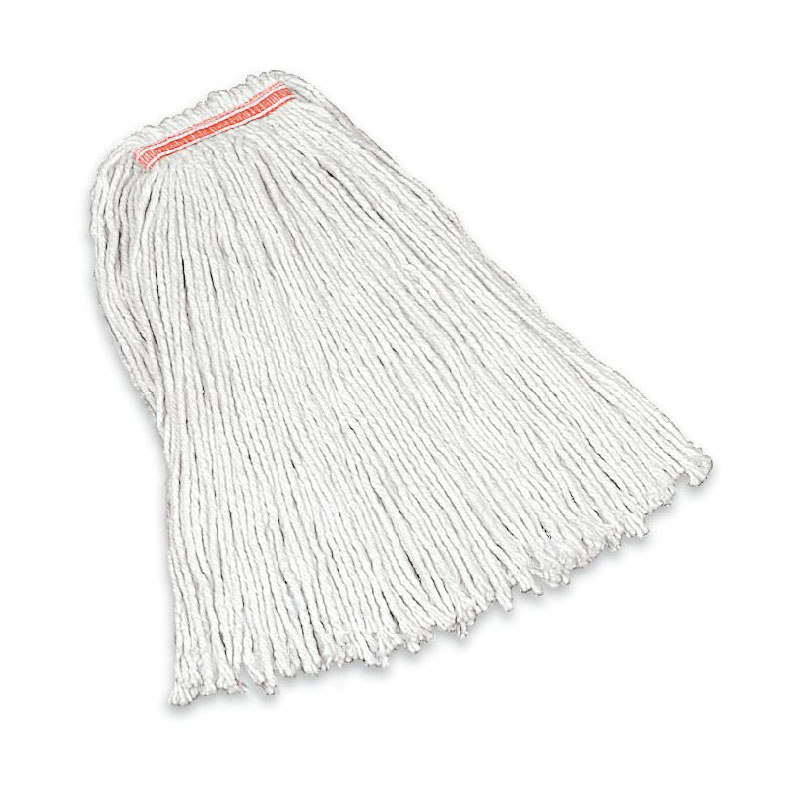 "Rubbermaid FGF11700WH00 20-oz Premium Mop Head - 1"" Headband, 4-Ply Cotton, White"