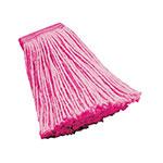 """Rubbermaid FGF13600PINK 16-oz Mop Head - 5"""" Headband, Synthetic Yarn, Pink"""